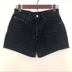 Vintage Gap Black High Waisted Denim Shorts | 6